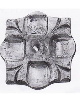 Element fier forjat - placa de mascare [cod: 802/5]